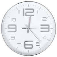 vidaXL sienas pulkstenis, 30 cm, sudraba krāsa