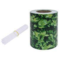 vidaXL dārza aizslietnis, PVC, 70x0,19 m, zaļš