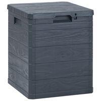 vidaXL dārza uzglabāšanas kaste, 90 L, antracītpelēka