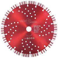 vidaXL dimanta griešanas disks, ar turbo un caurumiem, tērauds, 230 mm