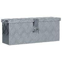 vidaXL kaste, 48,5x14x20 cm, alumīnijs, sudraba krāsā