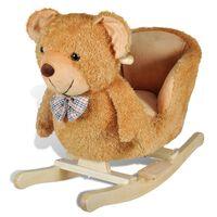 vidaXL bērnu šūpuļkrēsliņš, rotaļu lācis