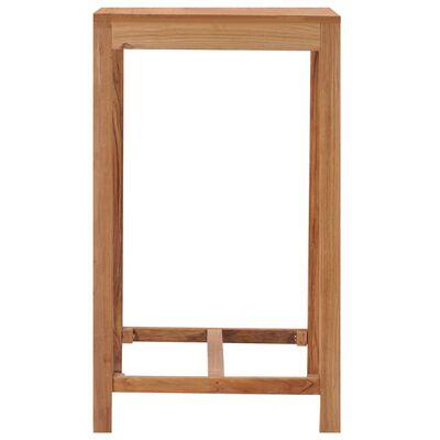 vidaXL dārza bāra galds, 60x60x105 cm, masīvs tīkkoks