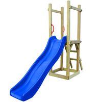 vidaXL rotaļu laukums ar slidkalniņu un kāpnēm, priedes koks
