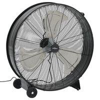 vidaXL industriāls ventilators, 77 cm, 180 W, melns