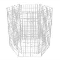 vidaXL gabions, augstā puķu kaste, 100x90x100 cm, sešstūrveida