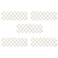 vidaXL špaleru žogi, 5 gab., 180x60 cm, egles koks