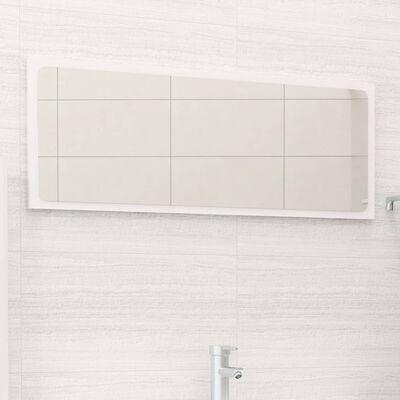 vidaXL vannasistabas spogulis, spīdīgi balts, 90x1,5x37 cm