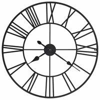 vidaXL vintāžas sienas pulkstenis, XXL, metāls, 80cm, kvarca mehānisms