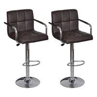 vidaXL bāra krēsli, 2 gab., brūna mākslīgā āda