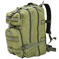 vidaXL mugursoma, 50 L, olīvu zaļa, armijas stila
