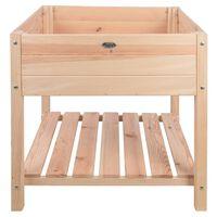 Esschert Design paaugstināta puķu kaste, gaišs koks, XL