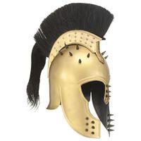 vidaXL grieķu karotāju bruņucepure, replika, vara krāsas tērauds
