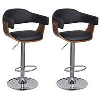 vidaXL bāra krēsli, 2 gab., mākslīgā āda