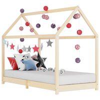 vidaXL bērnu gultas rāmis, priedes masīvkoks, 80x160 cm