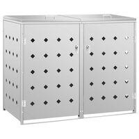 vidaXL nojume atkritumu konteineram, 240 L, nerūsējošs tērauds
