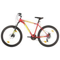 vidaXL kalnu velosipēds, 21 ātrums, 27,5'', 42 cm, sarkans