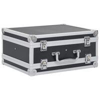 vidaXL ieroču kaste, alumīnijs, ABS, melna