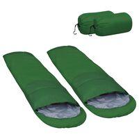 vidaXL guļammaisi, 2 gab., mazs svars, zaļi, 15 ℃, 850 g