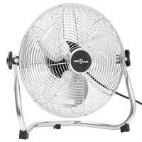vidaXL grīdas ventilators ar 3 ātrumiem, 40 cm, 40 W, hromēts