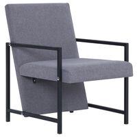 vidaXL atpūtas krēsls, gaiši pelēks audums