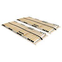 vidaXL gultas redeles, 2 gab., ar 28 līstītēm, 7 zonas, 80x200 cm