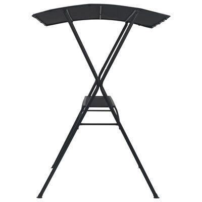 vidaXL galds ar nojumi, 175x150x207 cm, antracītpelēks, tērauds
