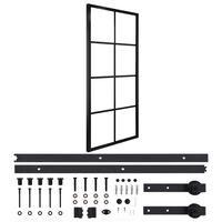 vidaXL bīdāmās durvis, alumīnijs un ESG stikls, 76x205 cm