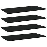 vidaXL plauktu dēļi, 4 gab., melni, 80x20x1,5 cm, skaidu plāksne