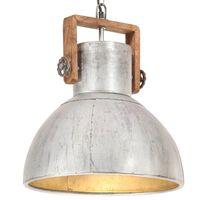 vidaXL griestu lampa, industriāls dizains, sudrabaina, 25 W, 40cm, E27