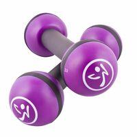Zumba hanteles, 2 gab., 2 kg, violetas, ZUM011