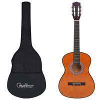 """vidaXL 8-daļīga klasiskā ģitāra bērniem un iesācējiem, 3/4, 36"""""""
