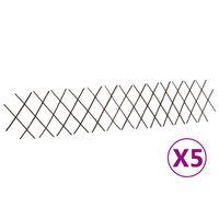 vidaXL špaleru žogi, 5 gab., 180x30 cm, vītola klūgas
