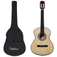 """vidaXL klasiskā ģitāra iesācējiem ar somu, 4/4, 39"""""""
