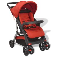 vidaXL bērnu pastaigu ratiņi, sarkani, 102x52x100 cm