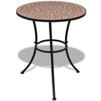 vidaXL bistro galds, 60 cm, sarkanbrūna mozaīka