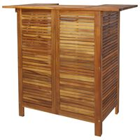 vidaXL bāra galds, 110x50x105 cm, akācijas masīvkoks