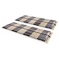 vidaXL gultas redeles, 2 gab., ar 42 līstītēm, 7 zonas, 70x200 cm