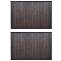 vidaXL vannasistabas paklāji, 2 gab., bambuss, tumši brūns, 60 x 90 cm