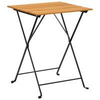 vidaXL bistro galds, 55x54x71 cm, akācijas masīvkoks