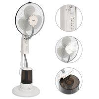 vidaXL ūdeni izsmidzinošs ventilators ar statīvu, 3 ātrumi, balts