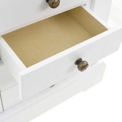 vidaXL rotaslietu kastīte ar spoguli, MDF, 25x13,5x34 cm