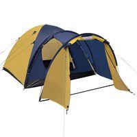 vidaXL telts 4 personām, dzeltena