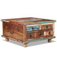 vidaXL kafijas galdiņš, 70x70x38 cm, pārstrādāts koks