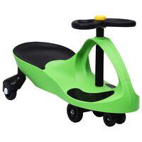 vidaXL bērnu braucamrīks ar tauri, zaļš
