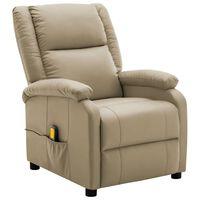 vidaXL masāžas krēsls, kapučīno krāsas mākslīgā āda