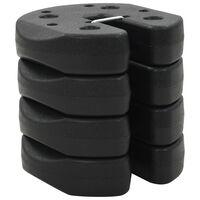 vidaXL nojumes atsvari, 4 gab., melni, 220x30 mm, betons