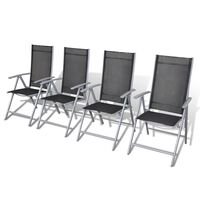 vidaXL saliekami dārza krēsli, 4 gab., alumīnijs