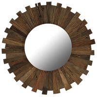 vidaXL sienas spogulis, pārstrādāts masīvkoks, 70 cm