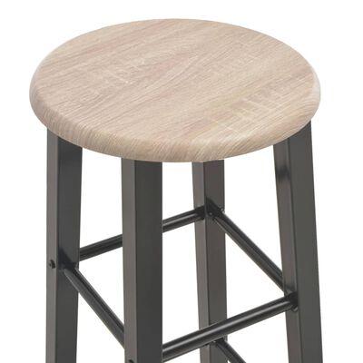 vidaXL bāra krēsli, 2 gab., melns MDF
